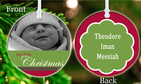 Personalized Christmas Ornament My First Christmas Picture Photo Baby Child Love Gift Idea