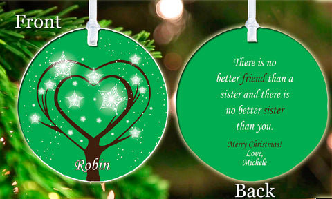 Personalized Christmas Ornament Sisters Best Friends Family Beautiful keepsake Gift Idea