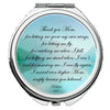 Image of Personalized Round Mirror Compact Thank you I Love You Mom Beautiful Gift