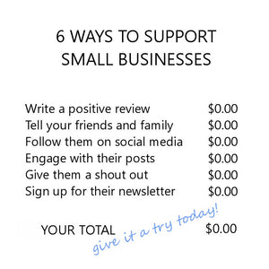 6 ways to support us