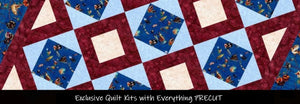Exclusive precut quilt kits