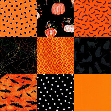 Halloween PreCut  9 Piece Fat Quarters