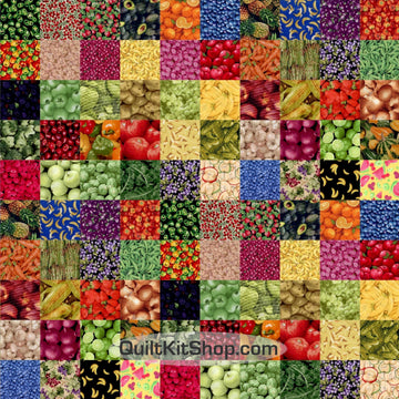 100 Fruit Vegetable I Spy Easy PreCut Quilt Pack Kit