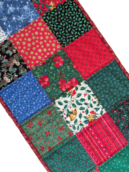 Christmas Happy Handmade Quilted Table Runner