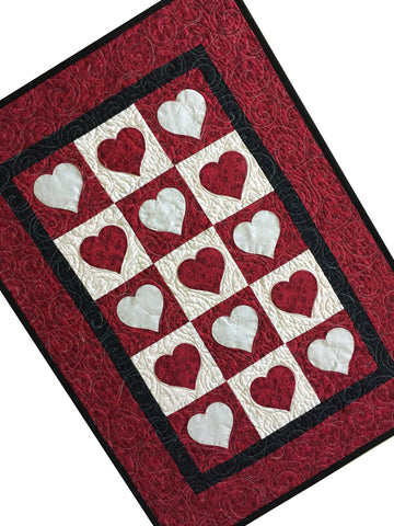 Sweetheart Valentine Quilted Patchwork Table Runner