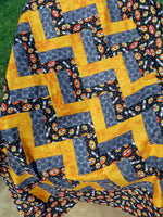 Night Bats Halloween Unfinished Quilt Top