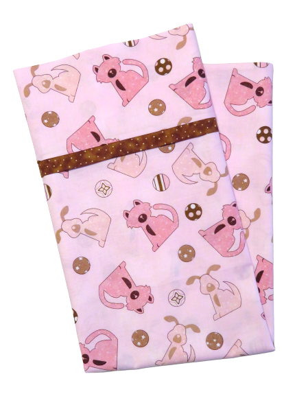 Handmade Dog pink pillowcase - Quilt Kit Shop