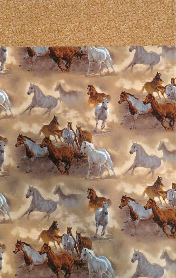 Handmade Pillowcase Wild Horses
