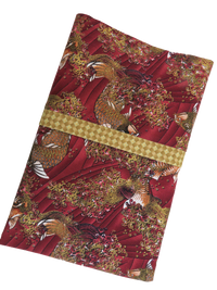 Koi Fish Maroon Gold Handmade Travel Pillowcase
