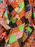 Halloween Scramble Unfinished Quilt Top Handmade