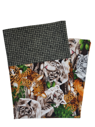 Big Wild Cats Handmade Travel Pillowcase