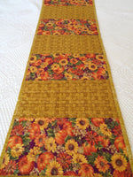 Fall Flowers Handmade Quilted Table Runner