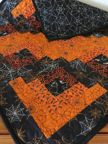 Halloween Webs  Handmade Quilted Table Topper