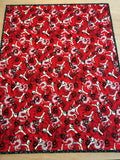 Karate Red Baby Quilt Blanket