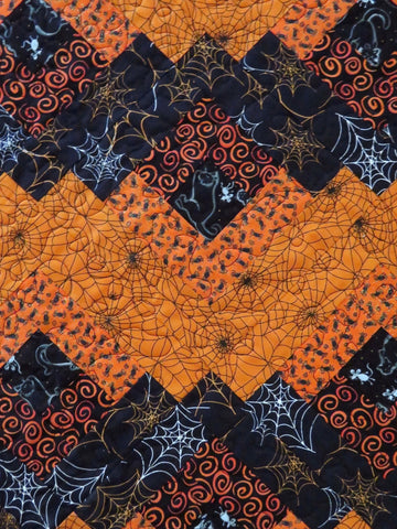 Handmade Table Topper Halloween Webs