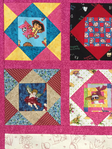 Girls Character Sampler Unfinished Quilt Top