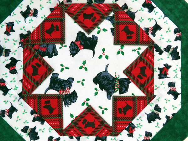 Quilted Table Topper Scottish Terrier