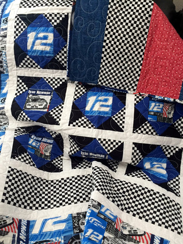 Race Car Handmade Quilt