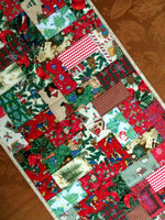 "Quilted Table Runner Christmas Tile 17"" x 56"""