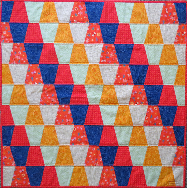 Orange Blue Green Tumbler Baby Quilt