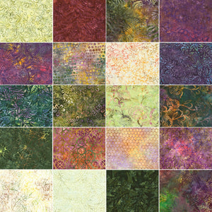 "Tuscany Tonga Treats Mini Batik Precut 40 - 5"" Charm Squares Timeless"