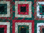 Table Topper Christmas Box Quilted Handmade