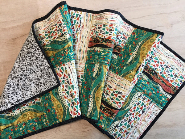 Quilted Table Runner Jade