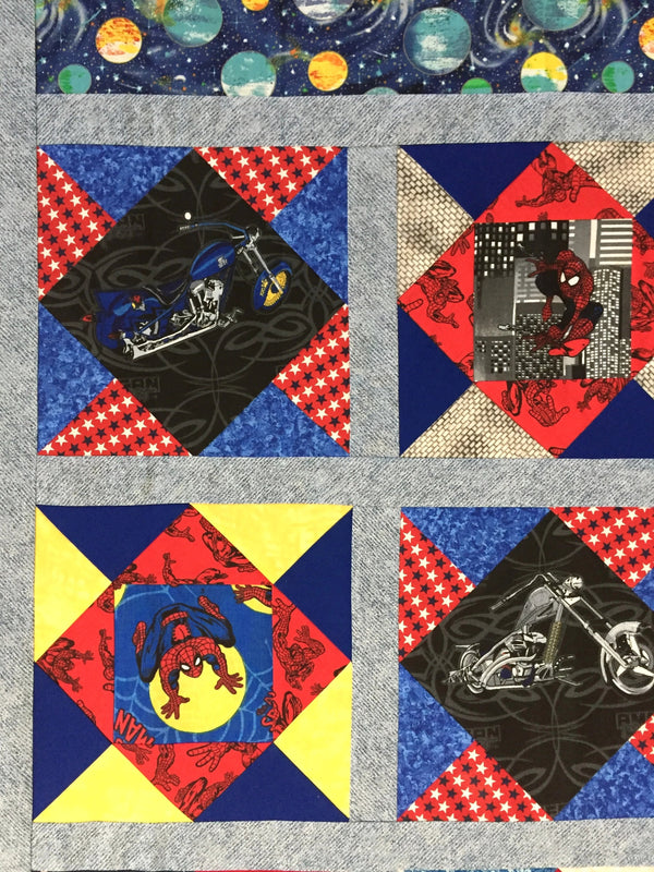 Boys Character Sampler Unfinished Quilt Top