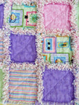 Pink Purple Rag Quilt