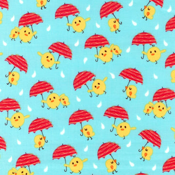A Fun Day in the Jungle Chicks Umbrella Blue