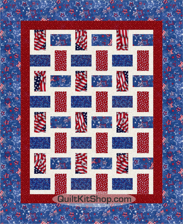 Americana Rail Fence Quilt Top