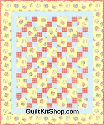 Animal Train Yellow 40 x 48 PreCut Quilt Kit