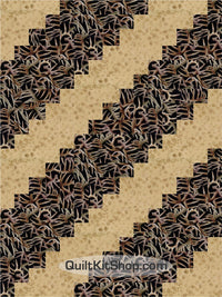 Antler Tracks Hunt Pre-Cut 12 Block Quilt Kit
