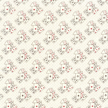 Ascot Playing Cards Card House Cream Windham Fabric