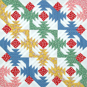 Aunt Grace Pineapple Mini Quilt Top