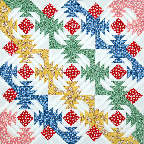 Aunt Grace Pineapple Quilt Top