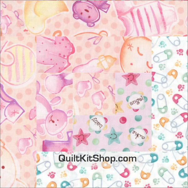 Baby Bundle PreCut 12 Block Quilt Kit