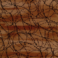 Barbed Wire Brown Blank Quilting Fabric