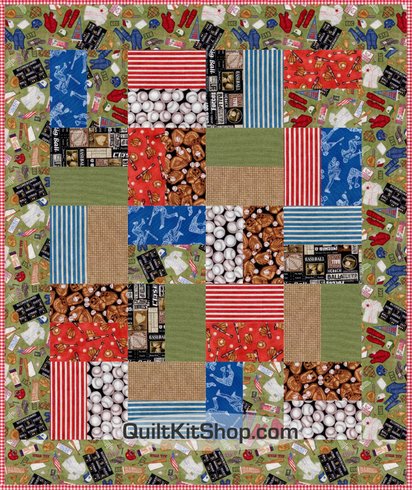 Baseball at Heart Uniforms Bundle Quilt Kit