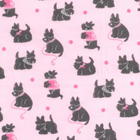 Bespoke Scotties Dog Pink Michael Miller Fabric