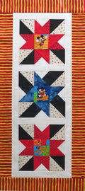 Best Friends Star Table Runner Quilt Top Unfinished