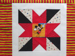 Best Friends Star Large Table Runner Quilt Top Unfinished