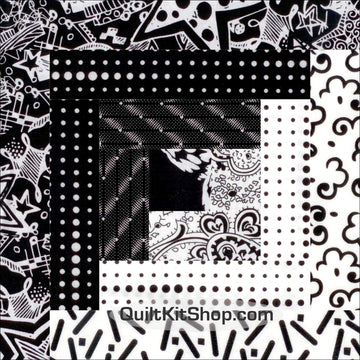 Black White Big City Pre-Cut 12 Block Quilt Kit