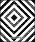 Cosmos Black White Quilt Kit PreCut