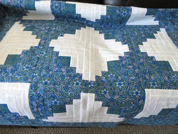 Blue White Handmade Quilt Top
