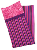 Handmade Pillowcase Pink Purple Stripe