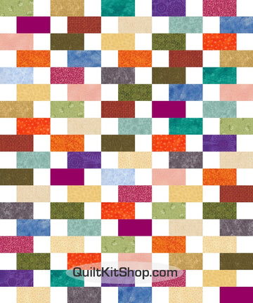 Scrappy Bricks PreCut 30 Block Quilt Kit