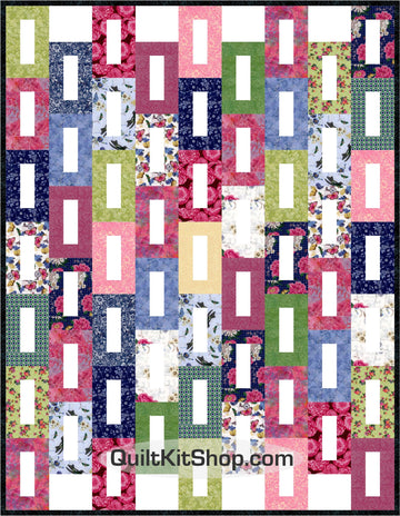 Butterfly Blossom Semi-Cut Quilt Kit
