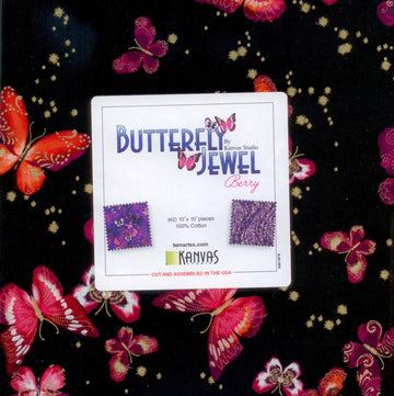 "Butterfly Jewel Berry Layer Cake 10"" Squares"