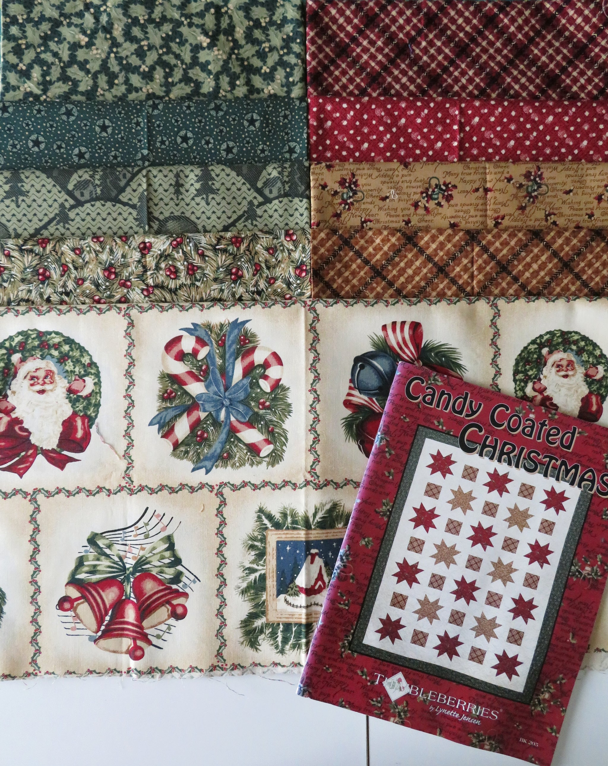 RJR Thimbleberries Candy Coated Christmas Book Fabric Bundle